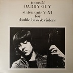 Barry Guy - Statements V-XI For Double Bass & Violone