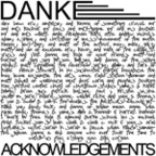 Danke - Acknowledgements