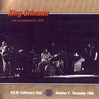 King Crimson - Live At Jacksonville, 1972