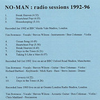No-Man - Radio Sessions: 1992-96