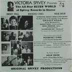 Smokey Hogg And His Washboard Trio - Victoria Spivey Presents The All Stars Blues World Of Spivey Records In Stereo
