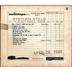 Stephen Stills - Just Roll Tape · April 26, 1968