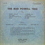 The Bud Powell Trio - Vol. 1