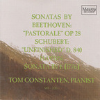 "Tom Constanten - Sonatas By Beethoven: ""Pastorale"" OP 28 · Schubert: ""Unfinished"" D. 840 · Haydn: Sonata In E (1776)"